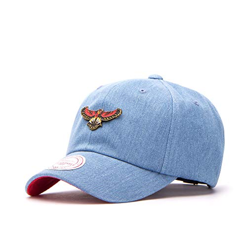 Mitchell & Ness Atlanta Hawks Denim Pin Strapback, Denim Denim; One Size