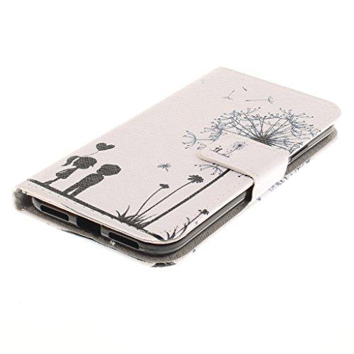 Custodia iPhone X Cover , YIGA albicocca albero Retro Modello Design Con Book style Internamente Silicone TPU Custodie Flip Funzionalità di Supporto cuoio Case in Premium pelle Protettiva Flip Cover p Q11