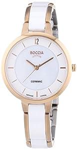 Boccia B3236-03 - Reloj de cuarzo para mujer, con correa de cerámica, color blanco de Boccia