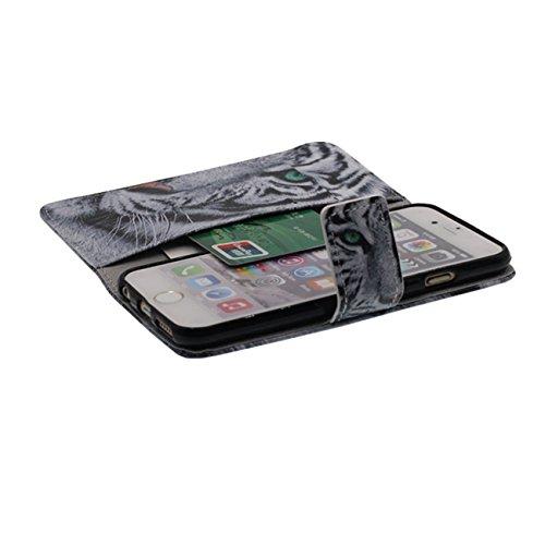 Apple iPhone 6S Coque de Protection, Rabat Bourse Portefeuille Case Soutien Fonctionnalité Animal Sauvage Motif série Divers Couleur Housse de Protection pour iPhone 6 / 6S 4.7 inch - Chouette a3