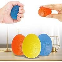 QIUDI - Pelotas de gel para manos (3 unidades) para terapia de ejercicio, gel para apretar la artritis, la mano, el dedo, el fortalecimiento del agarre y el alivio del estrés