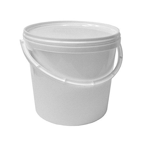 4 x 5 Liter Eimer mit Deckel wei/ß