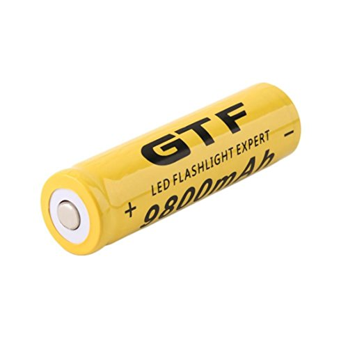 Preisvergleich Produktbild Jintime 4 / 8 Stücke 18650 Ersatzbatterie 3, 7 V / 9800 mah Li-Ion Akku für LED Taschenlampe (1 pcs)