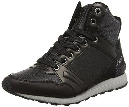 s.Oliver Damen 25221 Sneakers, Schwarz (Black Comb 98), 38 EU