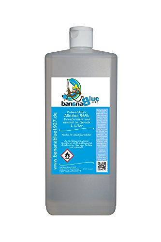 Kosmetischer Alkohol 96% Basiswasser Denaturisiert und neutral im Geruch 1 Liter