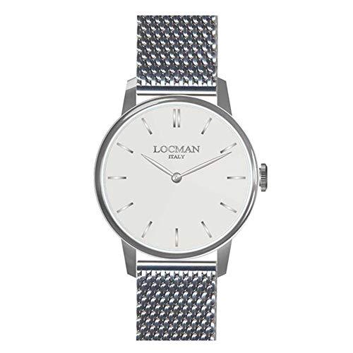 Reloj Hombre 1960de Acero Silver locman
