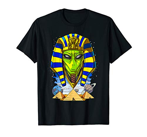 Alien Pharao Ägypten Pyramiden UFO Space Planets T-Shirt