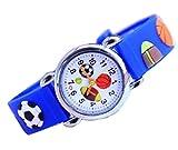 ENFANTS Dessin animé montres de football Enfant Coque en silicone montres à quartz Mode enfants enfant poignet stabilité Bleu