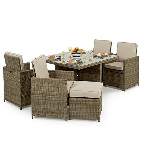 Sienne Rattan Garden Furniture 5 Piece Cube Set Garden Rattan Furniture