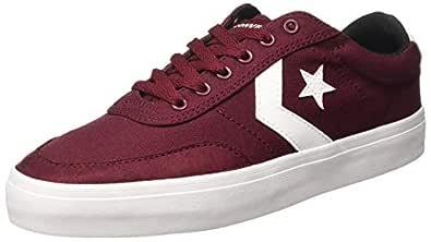 Converse Unisex's Dark Burgundy/White/Black Sneakers-7 UK/India (40 EU) (8907788135837)