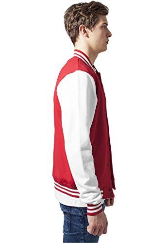 Urban Classics Bekleidung 2 Tone College Sweatjacket-Giacca Uomo red/wht