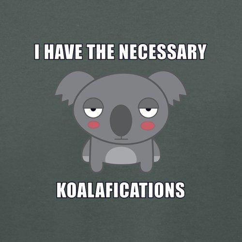 Ich habe die nötigen Koalafikationen - Damen T-Shirt - 14 Farben Dunkelgrau