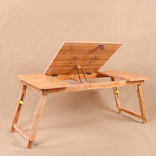 Tragbare Bambus Notebook Stand Klapptisch Notebook Tisch Bett Notebook Tray Bett Tisch (Farbe : A, Größe : 74 * 34 * 34CM)