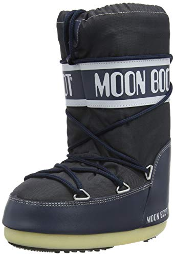 Moon Boot Nylon Unisex Schneestiefel,35-38 EU, Blau (Denim Blue 064)