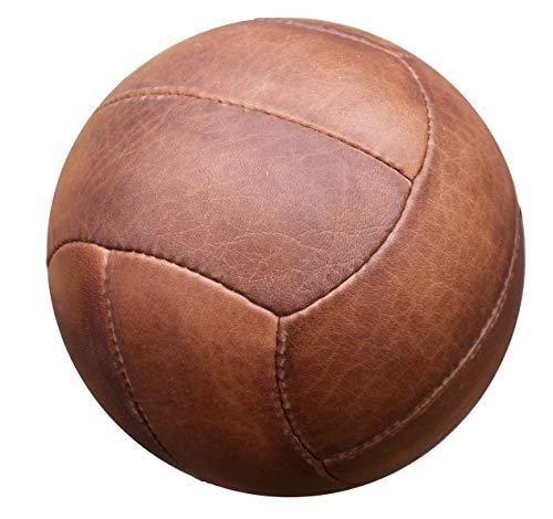 Authentischer Leder-Vintage-Fußball. 30er Jahre Stil. Handgemachtes Altern.