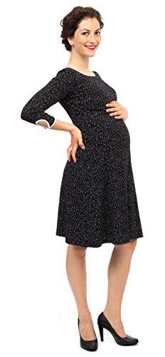Viva la Mama I Umstandskleid festlich Stillkleid I Umstandsmode Schwangerschaft Damen I Schwangerschaftsmode Kleid Milla - schwarz