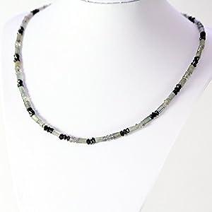 Fine Art Unisex kette Labradorit Turmalin Amulett Geschenk Geburtstag Halskette für Männer