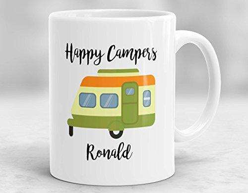 CiCiDi 11 Unzen Kaffeetasse-Happy Camper Becher, Custom Camping Becher, erwartet Abenteuer Becher, Camping Geschenk, personalisierte Camping Cup - Camper Becher Happy