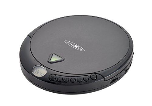 Reflexion PCD-500MP tragbarer CD und MP3 Player mit Hörbuch-Funktion und Anti-Shock, inkl. Ohrhörer und Netzteil, schwarz