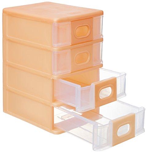 Cello Alpha 4 Rectangle Plastic System Box, Peach