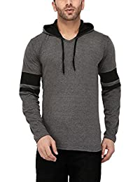 Katso Men's Cotton Hooded Stripe T-Shirt
