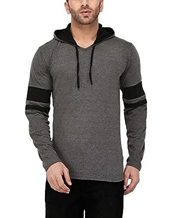 Katso Men's Cotton Hoodie (Hood-St-Darkgrey-S_Black_Small)