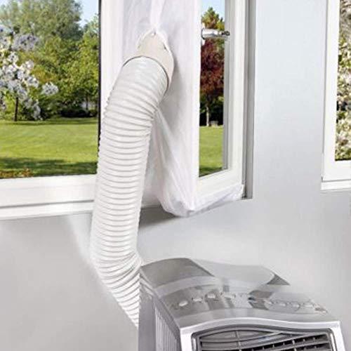 Geschlossene Kühlung (Dichtung Platte Weiß Luftschleuse Universal 4m Flexibel Tuch Weich Brett Gegentakt Fenster für Mobile Klimaanlage)