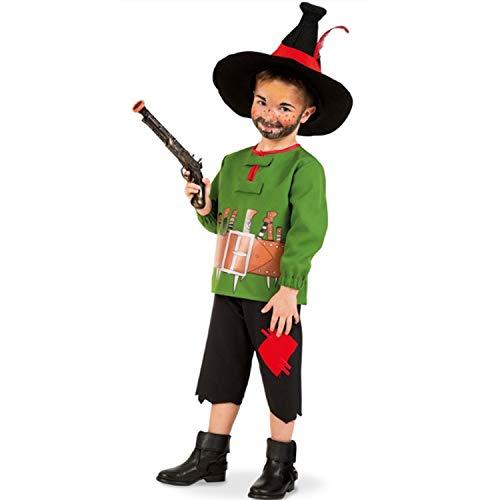 Krause & Sohn Kinder Kostüm Räuber Hotzenplotz komplett mit Hut und Spiel-Pistole Märchen Fasching Karneval (128) (Kind Räuber Kostüm)