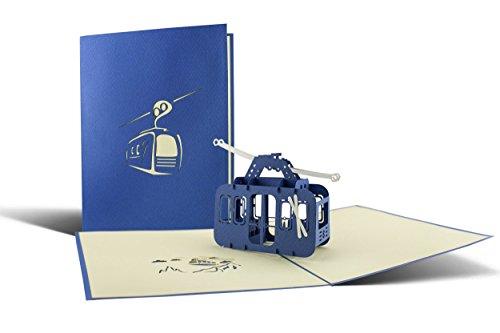 Ski Geschenk I Gondel als Pop-Up-Karte I Gutschein für Skifahrer I Wandern I Wintersport I Skiurlaub I Reisegutschein T11