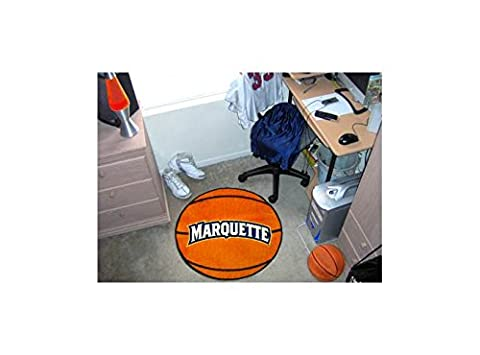 Basketball Rug w Marquette University Logo - 29 Inches