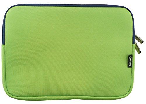 Emartbuy® Grün/Blau Wasserdicht Neopren weicher Reißverschluss Kasten Abdeckung Sleeve mit Blau InterieurundZip Geeignet Für ASUS Chromebook C201PA 11.6 Zoll HD LED Notebook (11.6-12.5 Zoll) -