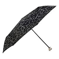 Radley Mini Telescopic Umbrella - Linear Dog Design in Black