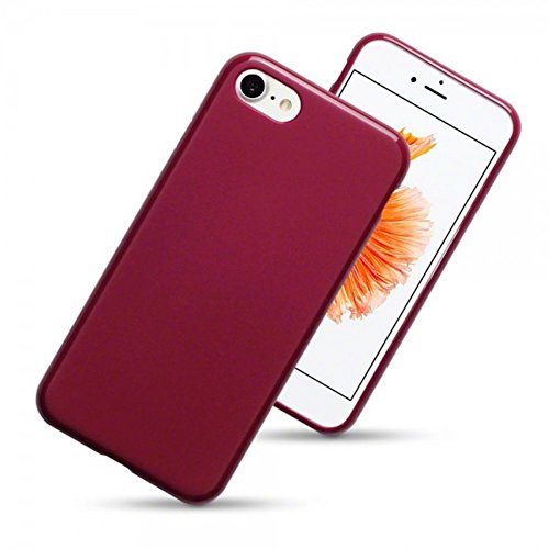 iphone-7-case-silicone-gel-tpu-cover-matte-red-shockproof-impact-absorbing-protective-back-cases-cov