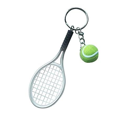 Mini-balle De Tennis Raquette Pendentif Porte-clés Cadeau Porte-clés -
