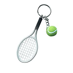 Imported mini tennis ball racket pendant keyring key chain gift imported mini tennis ball racket pendant keyring key chain gift silver mozeypictures Image collections