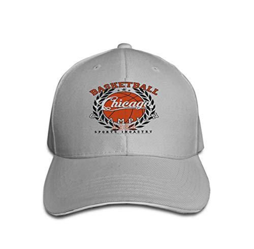 Unisex Baseball Cap Snapback Adult Cowboy Hat Hip Hop Trucker Hat Chicago Basketball Graphic Sport Emblem Design Print Label