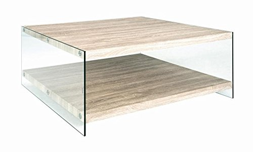 Haku Möbel 87090 Table Basse Tube d'Acier Chêne Clair