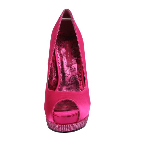 BordelloBELLA-12R - Scarpe peep toe Donna (H. Pink Satin/H. Pink Satin)