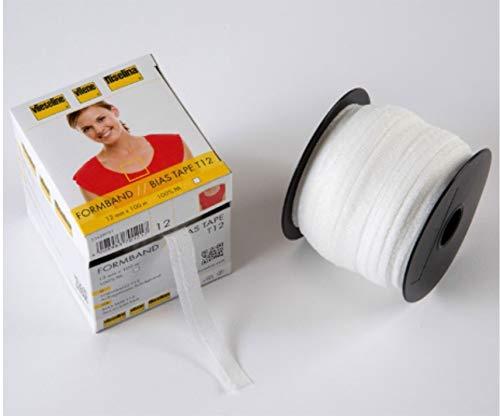 Vilene Schrägband zum Aufbügeln, 12 mm, 10 m, Weiß