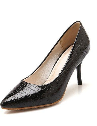 WSS 2016 Chaussures Femme-Bureau & Travail / Décontracté-Noir / Rouge / Blanc-Talon Aiguille-Talons / Bout Pointu-Talons-Polyuréthane red-us6.5-7 / eu37 / uk4.5-5 / cn37