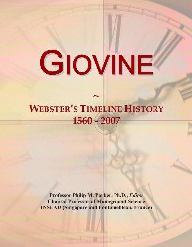 Giovine: Webster's Timeline History, 1560 - 2007