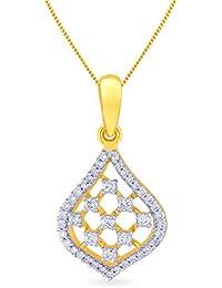 Malabar Gold And Diamonds 18KT Yellow Gold And Diamond Pendant For Women - B0777TPZ1F
