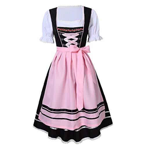 Bontand 1set Oktoberfest Uniform Oktoberfest Damen Abendkleid Deutsch Bayerische Beergirl Frauen Kostüm (Schwarz XXL)