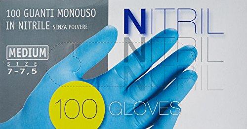 guanti latex Guanti Ico Nitrile X 100 Medi