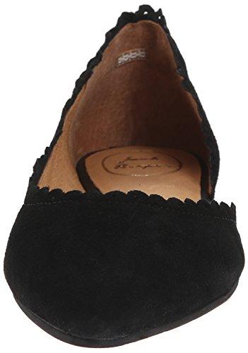 Jack Rogers Chantel Cuir Chaussure Plate Black
