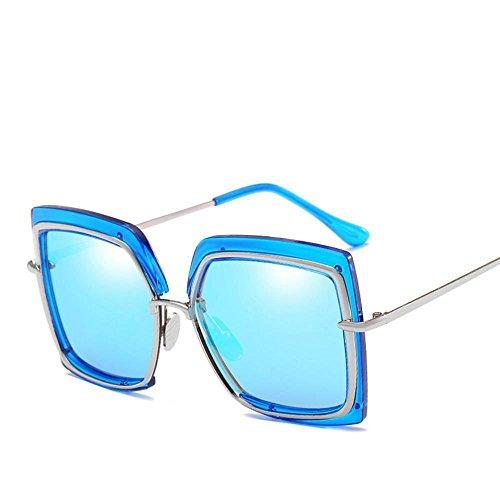 NANIH Home Herren Sonnenbrillen Frauen Metall inneren Kreis Sonnenbrillen Mode halbe Rahmen Runde Gesicht Sonnenbrille großen Rahmen Mode unregelmäßige Sonnenbrille Mädchen