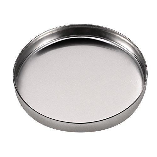 50 Packung Leere Runde Metall Dose Palette Wannen Kosmetik Lidschatten Erröten Lippenstift Organizer Größe 26mm für Magnete Kosmetik Paletten
