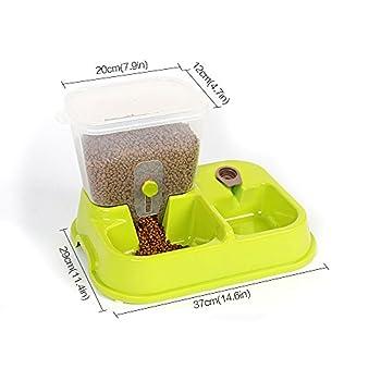 Zeee Automatique Pet Drinking Water Feeder Bowl, Alimentation Alimentation Eau Distributeur Alimentateur pour Animaux Dog Cat- Vert