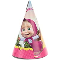 Procos 86566Set of 6Multi-Coloured Masha and Bear Paper Hats preiswert