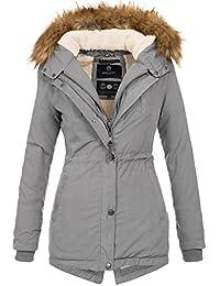 6bb8ec08e6c4 Marikoo Designer Damen Winter Parka warme Winterjacke Mantel Jacke B601